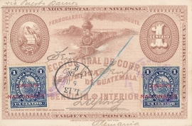 © 1898 GUATEMALA Coat of arms