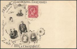 © 1898 LUXEMBOURG Grand Duke Adolphe I