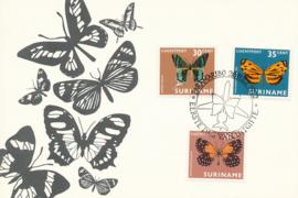 ®®® 1972 - CATA LP50/52 - SURINAME Vlinders