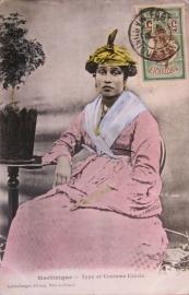 © 191.. MARTINIQUE Creole woman costume