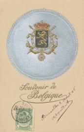 © 1906 - BELGIUM Coat of arms