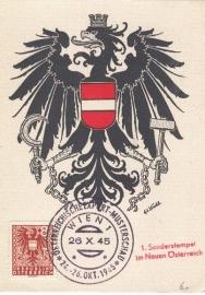 1945 AUSTRIA - Eagle Heraldry