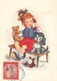 ®® 1961 NVPH 319 NED. ANTILLEN Meisje met pop