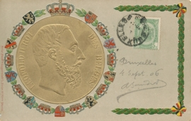 © 1906 - BELGIUM Coat of arms and crown