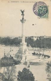 © 1907 - FRANCE Bordeaux Monument Girondins