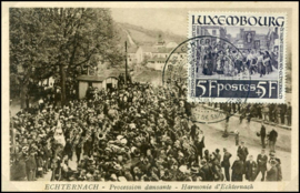 © 1938 LUXEMBOURG Religious procession