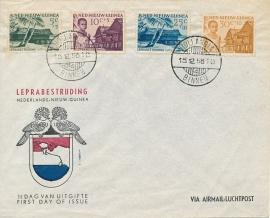¤¤¤¤¤ NVPH 41/44 Ned. Nieuw Guinea Leprazegels