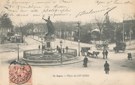 © 1903 - FRANCE Statue of July 14th Agen