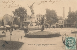 © 1907 - FRANCE Statue of the Republic - Vichy