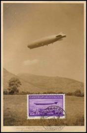 © 1937 LIECHTENSTEIN Zeppelin