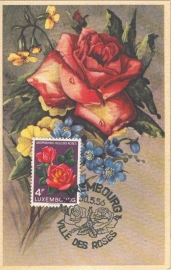 1956 LUXEMBOURG Ville des Roses