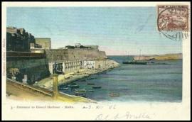 © 1906 - MALTA Great harbor Valletta