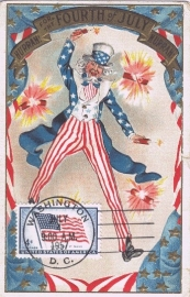 1957 USA - Flag Uncle Sam 4th of July