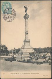 © 1906 - FRANCE Bordeaux Monument Girondins