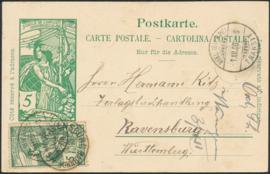© 1900 SWITZERLAND UPU 25 years Jubilee