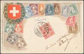 © 1905 SWITZERLAND Stamp White cross