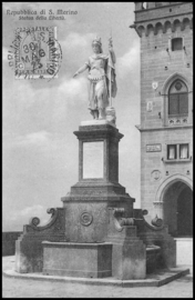 © 1923 - SAN ******** MARINO Statue of Liberty