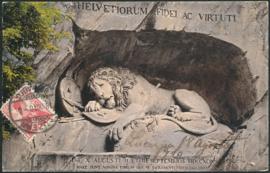 © 1910 SWITZERLAND Shield White cross