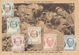 ® 1946 - CATA 454/55/56/57/58/59 Prinsessen Irene Margriet Beatrix