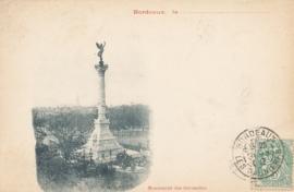 © 1902 - FRANCE Bordeaux Monument Girondins