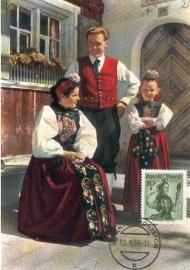 1959 AUSTRIA - Costumes Montafon/St. Anton
