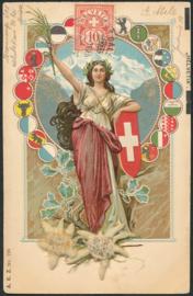 © 1906 SWITZERLAND Shield White cross