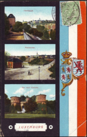 © 1913 LUXEMBOURG Coat of arms Lion