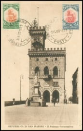 © 1929 - SAN ******** MARINO Government palace