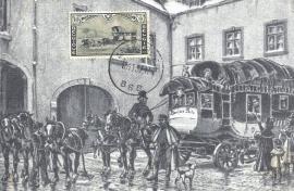 1937 BELGIUM - Mail Stagecoach