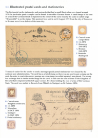 1.1. Illustrated postal cards and stationeries