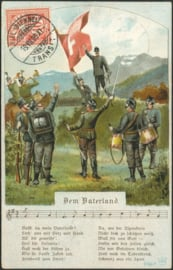 © 1906 SWITZERLAND Flag White cross