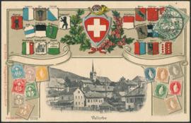 © 1908 SWITZERLAND Stamp White cross