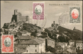 © 1935 - SAN ******** MARINO Castle on rock