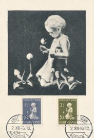 ® 1940 - CATA 374/75 Kind met bloemen