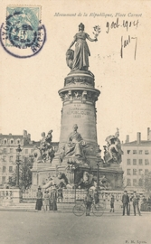 © 1904 - FRANCE Statue of the Republic - Lyon