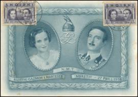 © 1938 - ALBANIA King Zog I and Queen Geraldine