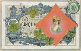 © 1909 - BELGIUM Coat of arms Heraldic Lion