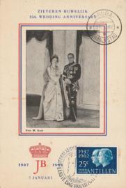 ®® 1962 NVPH 324 NED. ANTILLEN Koningin Juliana Prins Bernhard