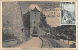 © 1936 LUXEMBOURG Gate of three towers