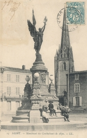 © 1904 - FRANCE Monument for the Fighters 1870 - Niort