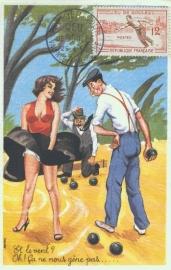 1958 FRANCE - Petanque - Jeu de Boules