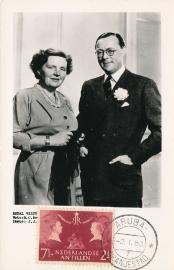 ®® 1955 NVPH 253 NED. ANTILLEN Koningin Juliana Prins Bernhard