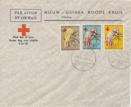 ¤¤¤¤¤ NVPH 38/40 Ned. Nieuw Guinea Rode Kruiszegels