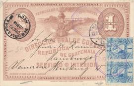 © 1895 GUATEMALA Coat of arms