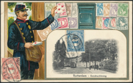 © 1920 NETHERLANDS Numeral - Philately card