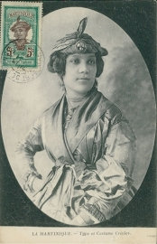 © 1913 MARTINIQUE Creole woman costume