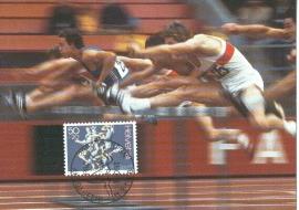 1986 SWITZERLAND Athletics Hurdles