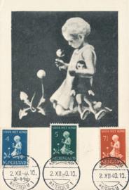 ® 1940 - CATA 376/78 Kind met bloemen