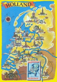 1979 NETHERLANDS Map Geography