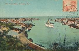 © 1924 - CURAÇAO Ship in harbor